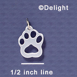 A1043 tlf - Small Paw - Pearl - Acrylic Charm
