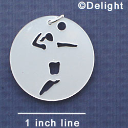A1126 tlf - Large Pearl Volleyball Player - Acrylic Pendant