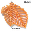 A1010 tlf - Extra Large Triple Leaf - Pearly Orange - Acrylic Pendant