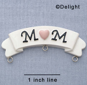 7547 - Banner - Mom Pink  - Resin Charm Holder