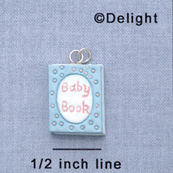 7581 - Baby Book - Multi  - Resin Charm