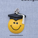 7312 - Smiley Face - Graduate - Resin Charm