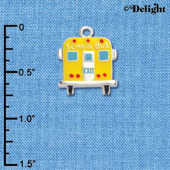 C1045 - School Bus - Back - Silver Charm