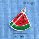 C1476 - Watermelon - Piece - Silver Charm