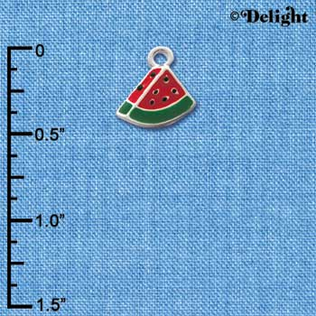 C1477 - Watermelon - Piece - Silver Charm Mini