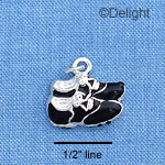 C1614 - Cleats - Black - Silver Charm