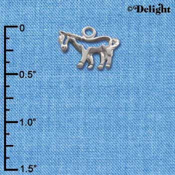 C1638* - Horse - Outline - Silver Charm (Left or Right)