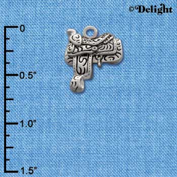 C1640 - Saddle - - Silver Charm (Left or Right)