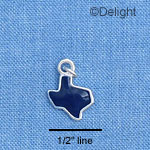 C1647 - Texas - Blue - Silver Charm Mini