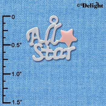 C3956 tlf - All Star with Pink Star - Silver Charm