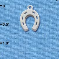 C1013 tlf - Horseshoe - Im. Rhodium Plated Charm