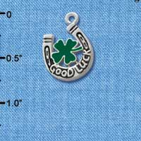 C1016* tlf - Horseshoe - Clover - Silver Charm (Left or Right)