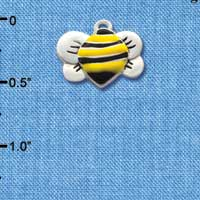 C1020 - Bee - Front Yellow - Silver Charm