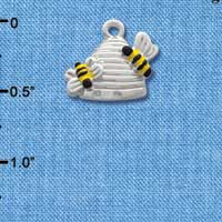 C1022 - Bees - 2 Beehive - Silver Charm