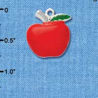 C1044* - Apple - Fat - Silver Charm (Left or Right)