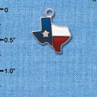 C1123 - Texas - Lone Star Glass - Silver Charm