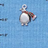 C1236* - Penguin - Scarf - Silver Charm (Left or Right)