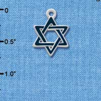 C1243 - Star Of David - Blue - Silver Charm