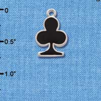 C1249 - Card Suit - Club - Silver Charm