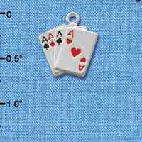 C1253 - Card Hand - Aces - Silver Charm