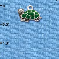 C1255* - Turtle - Side - Silver Charm (Left or Right)