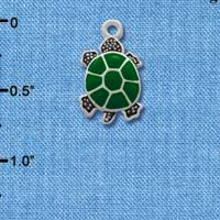 C1256* - Turtle - Top - Silver Charm