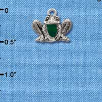 C1260 - Frog - Front - Silver Charm