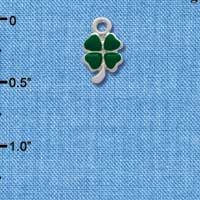 C1304* - Clover - Heart - Silver Charm Mini (Left or Right)