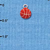 C1309 - Basketball - - Silver Charm Mini
