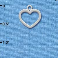 C1352+ - Heart - Outline Small - Silver Charm