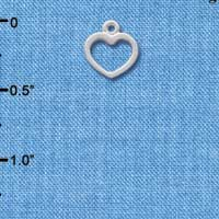 C1353+ - Heart - Outline - Silver Charm Mini