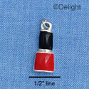 C1359 - Nail Polish - Black Red - Silver Charm