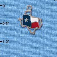 C1434 - Texas - Outline Flag - Silver Charm