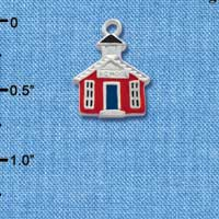 C1448 - School House - Red - Silver Charm