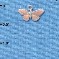 C1504 - Butterfly - Monarch Pink - Silver Charm