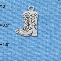 C1721* - Boot - Pair - Silver Charm