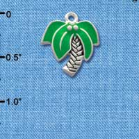 C1901* tlf - Large Palm Tree - Silver Plated Charm (Left or Right)