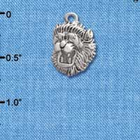 C2202* - Mascot - Lion - Small Silver Charm (Left or Right)