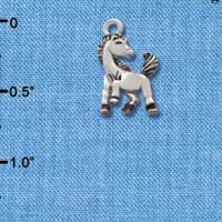 C2204* - Mascot - Mustang - Small Silver Charm (Left or Right)