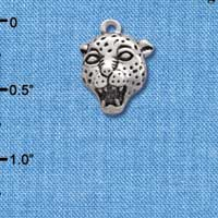 C2205* - Mascot - Jaguar - Small Silver Charm (Left or Right)