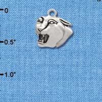 C2207* - Mascot - Panther - Small Silver Charm (Left or Right)