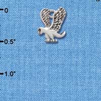 C2208* - Mascot - Eagle - Small Silver Charm (Left or Right)