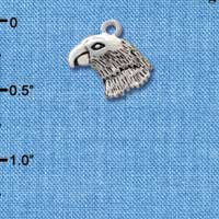 C2211* - Mascot - Falcon - Small Silver Charm (Left or Right)