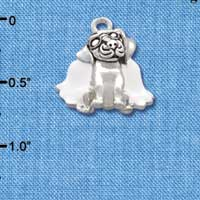 C2218 - Dog Angel - Silver Charm