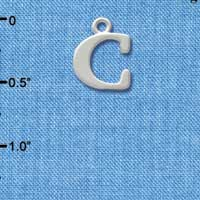 C2267 tlf - Large Silver Initial -C - Silver Charm