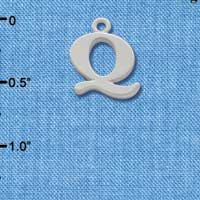 C2281 ctlf - Large Silver Initial - Q - Silver Charm