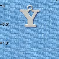 C2289 ctlf - Large Silver Initial - Y - Silver Charm
