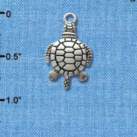 C2477 - Antiqued Turtle - Silver Charm