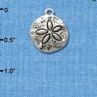 C2478 - Antiqued Sand Dollar - Silver Charm