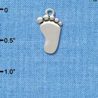 C2487* - Foot - Silver Charm (Left or Right)